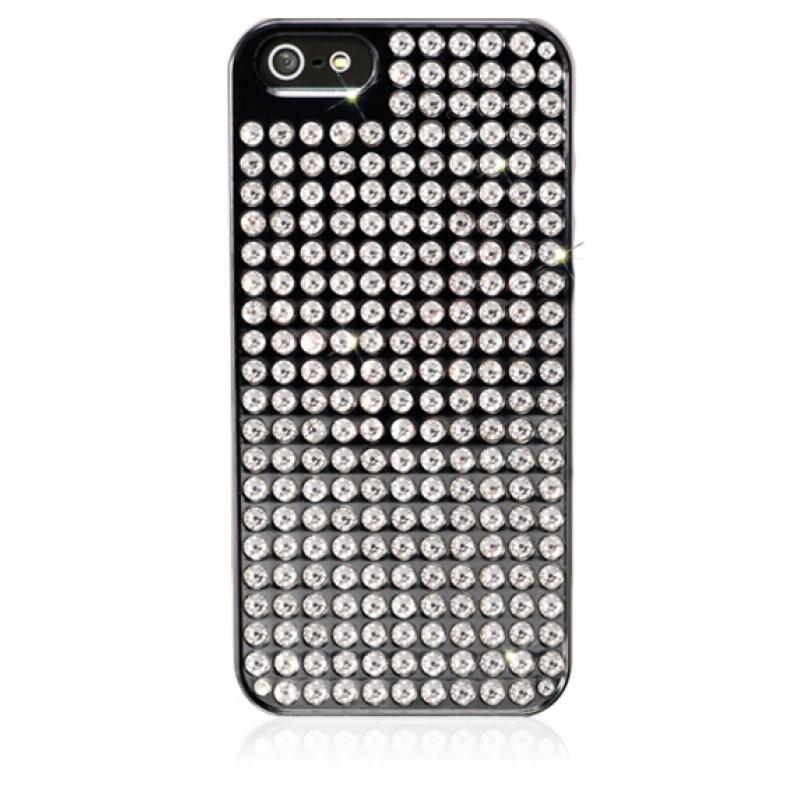 Coque métallique noire avec 238 strass Swarovski pour iPhone 5 / 5S