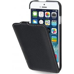 StilGut étui UltraSlim en cuir véritable noir pour iPhone 6 / 6s