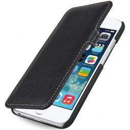 StilGut étui Book Type en cuir véritable noir pour iPhone 6