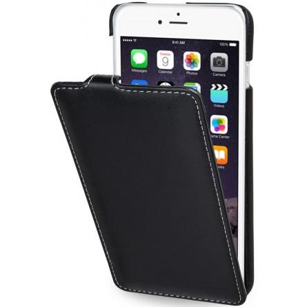 StilGut étui UltraSlim en cuir véritable noir nappa pour iPhone 6 plus / 6s Plus