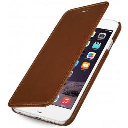 StilGut étui Book Type sans clip en cuir véritable cognac pour iPhone 6
