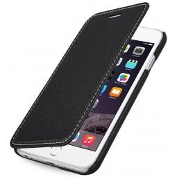 StilGut étui Book Type sans clip en cuir véritable noir pour iPhone 6