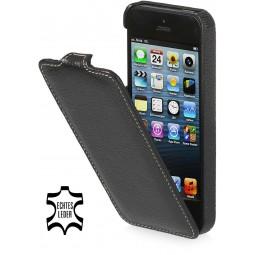 StilGut étui UltraSlim en cuir véritable noir pour iPhone 5/5S