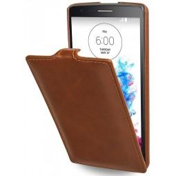 StilGut étui UltraSlim en cuir véritable cognac pour LG G3s
