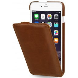 StilGut étui UltraSlim en cuir véritable cognac pour iPhone 6 plus / 6s Plus
