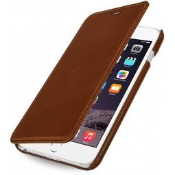 StilGut étui Book Type sans clip en cuir véritable cognac pour iPhone 6 plus