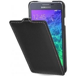 StilGut étui UltraSlim en cuir véritable noir pour Samsung Galaxy Alpha