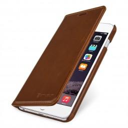 StilGut étui Talis sans clip en cuir véritable cognac pour iPhone 6