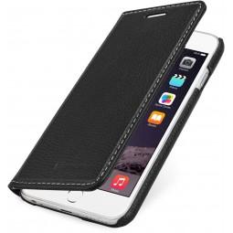 StilGut étui Talis sans clip en cuir véritable noir pour iPhone 6