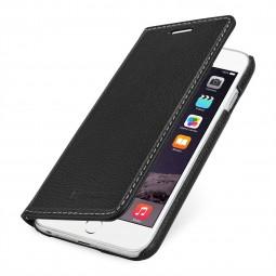 StilGut étui Talis sans clip en cuir véritable noir pour iPhone 6 Plus