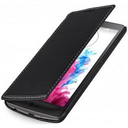 StilGut étui Book Type sans clip en cuir véritable noir nappa pour LG G3s