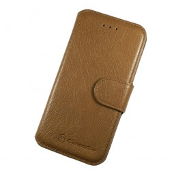Etui Book type marron clair...