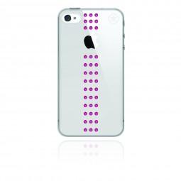 Coque Stripe Fushia Swarovski pour iPhone 4 / 4S