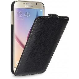 Etui Samsung Galaxy S6 UltraSlim StilGut en cuir véritable noir