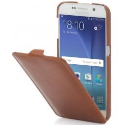 Etui Samsung Galaxy S6 UltraSlim StilGut en cuir véritable cognac
