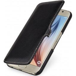 Etui pour Samsung Galaxy S6 StilGut en cuir véritable noir