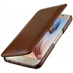 Etui pour Samsung Galaxy S6 StilGut en cuir véritable cognac