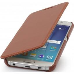 Etui book type UltraSlim pour Samsung Galaxy S6 StilGut en cuir véritable cognac
