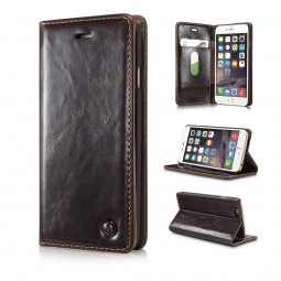 Etui iPhone 6 / 6S Portefeuille marron - CaseMe