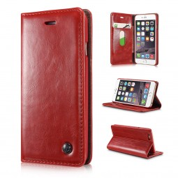 Etui iPhone 6 / 6S Portefeuille rouge - CaseMe