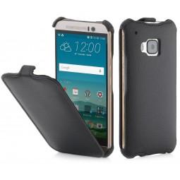 Etui HTC One M9 UltraSlim StilGut en Simili-cuir noir