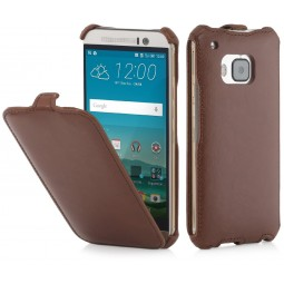 Etui HTC One M9 UltraSlim StilGut en Simili-cuir Cognac