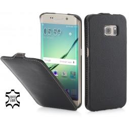 Etui Samsung Galaxy S6 Edge UltraSlim StilGut en cuir véritable noir