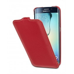 Etui Samsung Galaxy S6 Edge UltraSlim StilGut en cuir véritable Rouge