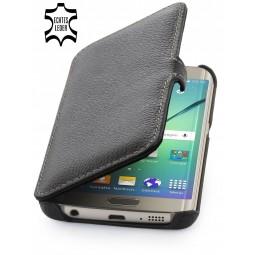 Etui Samsung Galaxy S6 Edge StilGut en cuir véritable noir