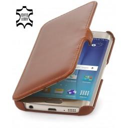Etui Samsung Galaxy S6 Edge StilGut en cuir véritable cognac