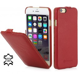 Etui iPhone 6 Plus / 6s Plus UltraSlim en cuir véritable rouge - StilGut