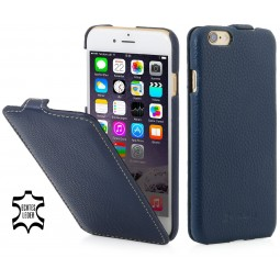 Etui iPhone 6 Plus / 6s Plus UltraSlim en cuir véritable bleu marine - StilGut