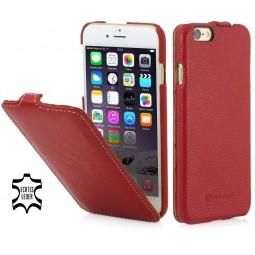 Etui iPhone 6 / 6s UltraSlim en cuir véritable rouge - StilGut