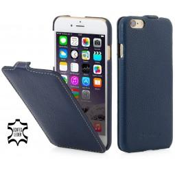 Etui iPhone 6 / 6s UltraSlim en cuir véritable bleu marine - StilGut
