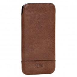 Housse iPhone 6 Plus / 6s Plus en cuir véritable marron - Sena Cases