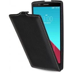 Etui LG G4 UltraSlim en cuir véritable noir - StilGut