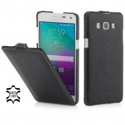 Etui Galaxy A5 UltraSlim en cuir véritable noir - StilGut