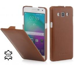 Etui Galaxy A5 UltraSlim en cuir véritable cognac - StilGut