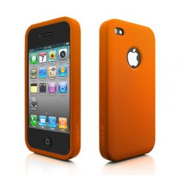 MoreThing Coque silicone orange iPhone 4