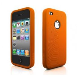 MoreThing Coque silicone orange iPhone 4