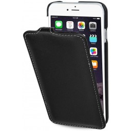 Etui iPhone 6s UltraSlim en cuir véritable noir nappa - StilGut