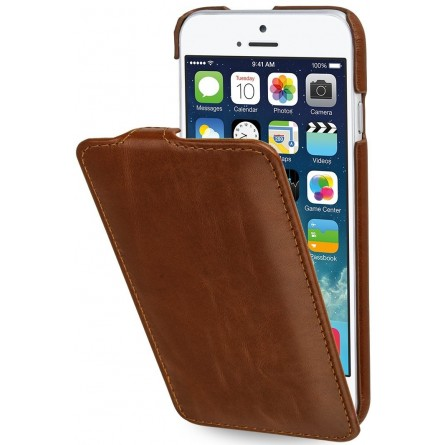 Etui iPhone 6s UltraSlim en cuir véritable cognac - StilGut