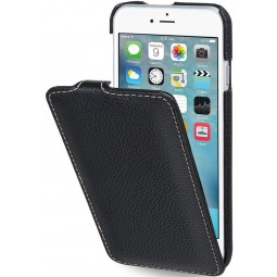 Etui iPhone 6 / 6s UltraSlim en cuir véritable noir - StilGut
