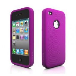 MoreThing Coque silicone violet iPhone 4