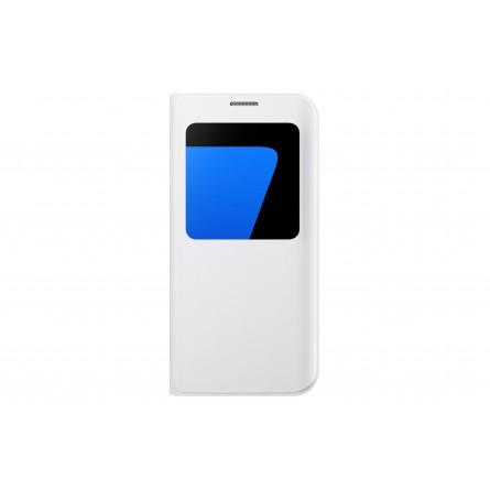 Etui Galaxy S7 Edge Blanc avec fenêtre de visualisation - Samsung