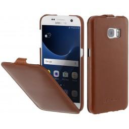 Etui Galaxy S7 UltraSlim en cuir Cognac - StilGut