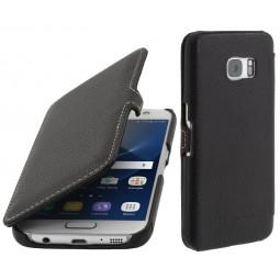 Etui Samsung Galaxy S7 en cuir noir - StilGut