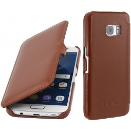 Etui Samsung Galaxy S7 en cuir Cognac - StilGut