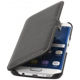 Etui Samsung Galaxy S7 Edge en cuir noir - StilGut