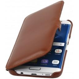 Etui Samsung Galaxy S7 Edge en cuir Cognac - StilGut